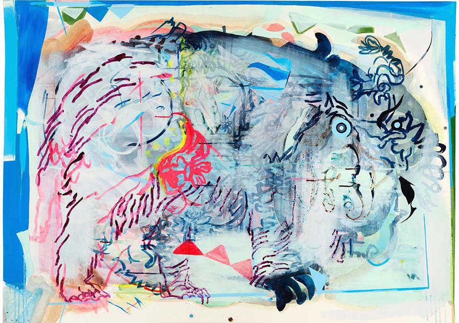 11_NEU-Anija_Seedler_bigwig_2014_FREMDE_GAeRTEN_Tusche_Pigment_Acryllack_Collage_110x150cm_Sammlung_Neue_Saechsische_Galerie_650